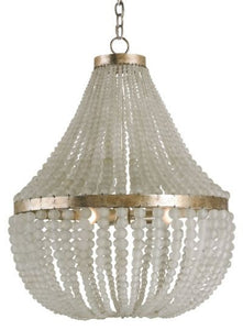 currey and  company chanteuse bead chandelier round metal