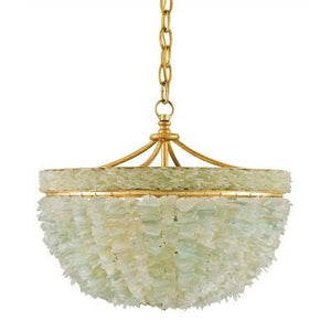 currey and  company bayou chandelier metal sea glass