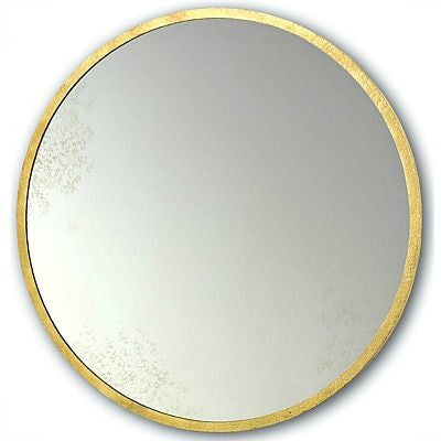 currey and company aline round mirror gold leaf