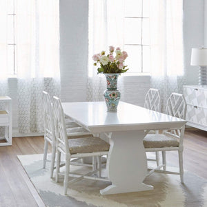 bungalow 5 porto dining table white wood rectangle