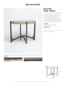made goods dexter side table tearsheet