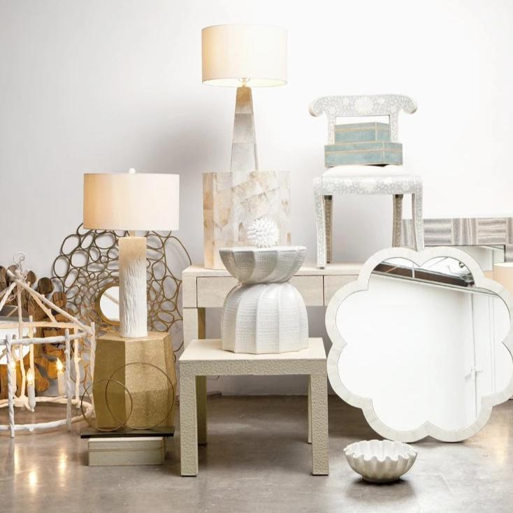 made goods Trina twig chandelier white open