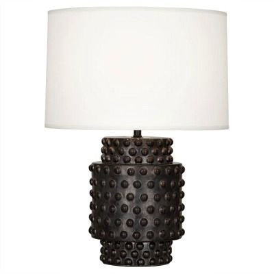 Robert Abbey Dolly Black Accent Lamp White Shade 801