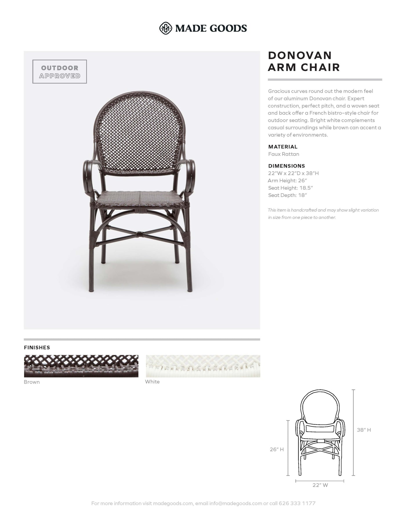Made Goods Donovan Arm Chair Tearsheet