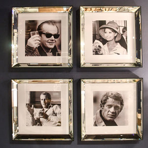 jack nicholson artwork worlds away black and white photo wall art square photo showroom