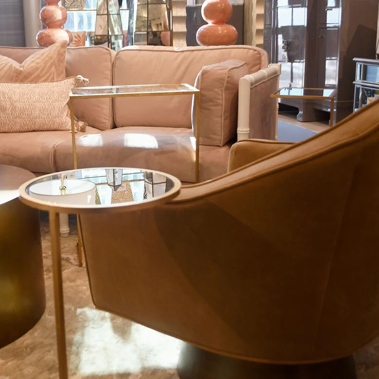 Cool Monaco Round Cigar Table Gold Pabps2019 Chair Design Images Pabps2019Com