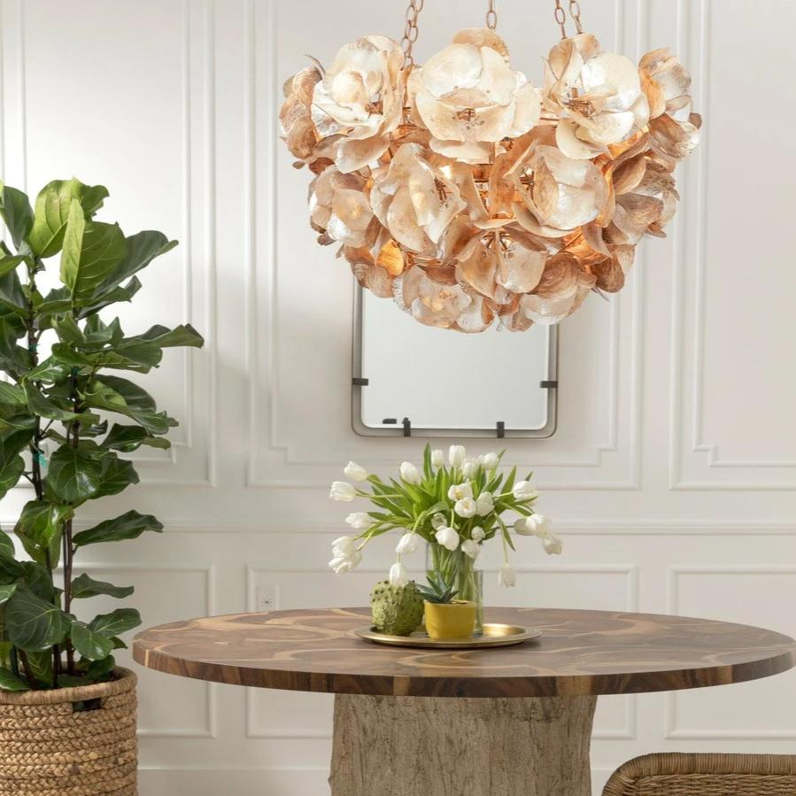 made goods Venus chandelier champagne shell oyster round