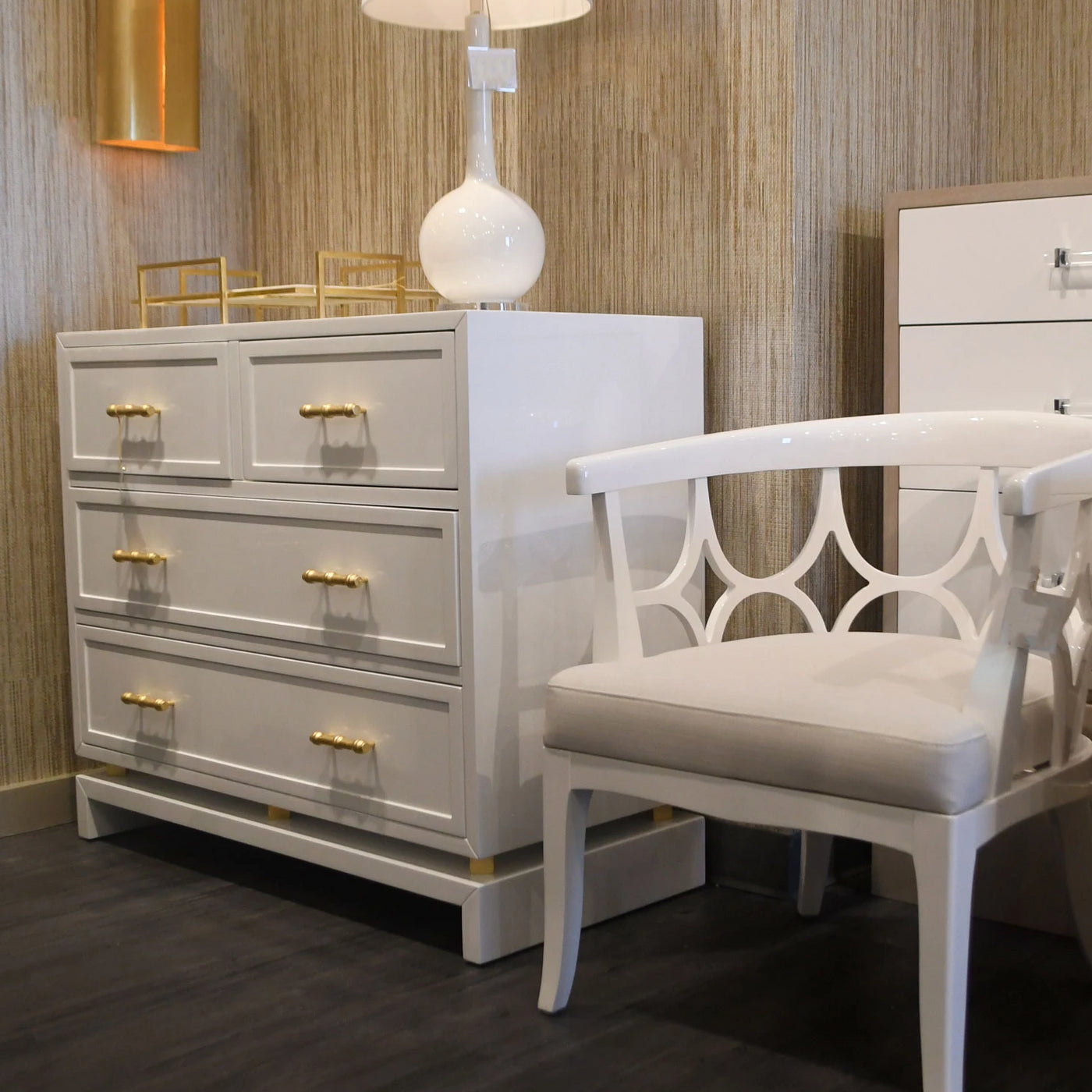worlds away Declan chest white drawers
