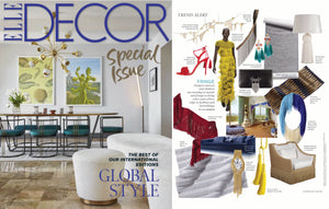 arteriors tassel lamp Elle Decor magazine