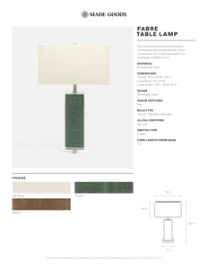 made goods fabre table lamp tear sheet
