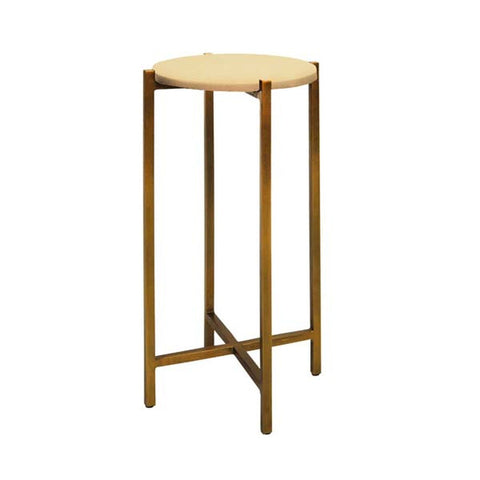 worlds away fitz cigar table beige and antique brass