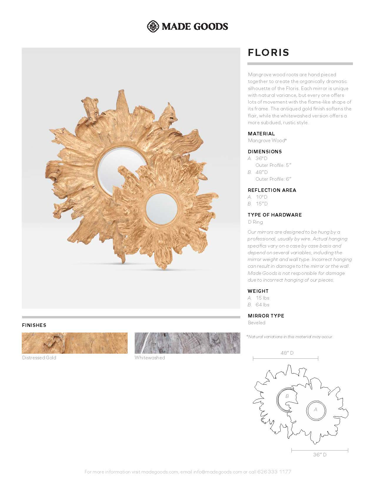 made goods floris wall mirror tearsheet
