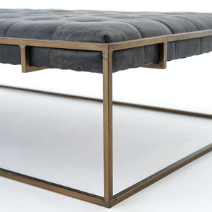 four hands oxford coffee table tufted seating detail