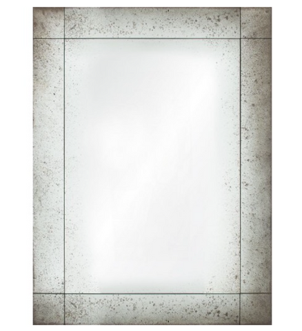 Mirror Image Home Frameless Antiqued Panel Mirror Hanging Wall