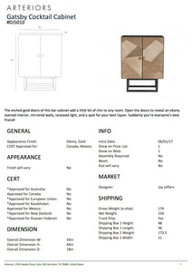 arteriors home gatsby cocktail cabinet tearsheet