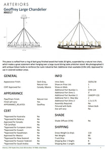 arteriors home geoffrey large chandelier tearsheet