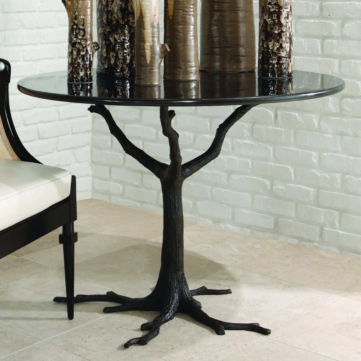 Global Views Faux Bois Dining Table in Black – CLAYTON GRAY HOME
