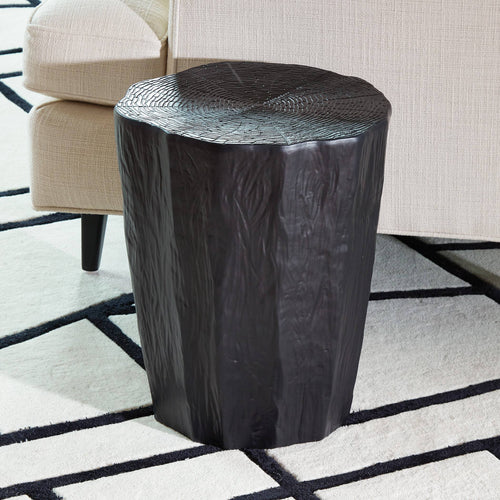 global views trunk stool black seating ceramic accent table sunroom