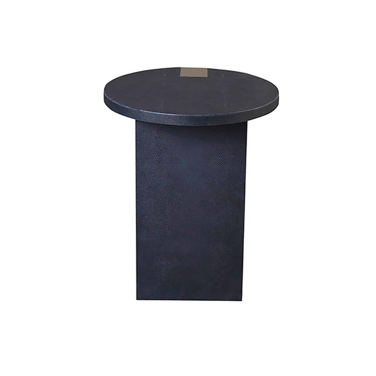 worlds away harrington side table navy and silver