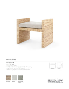 Bungalow 5 H-Bench Natural Tearsheet