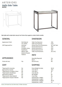 Arteriors home hollis side table tearsheet