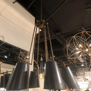 currey and company jean louis chandelier showroom