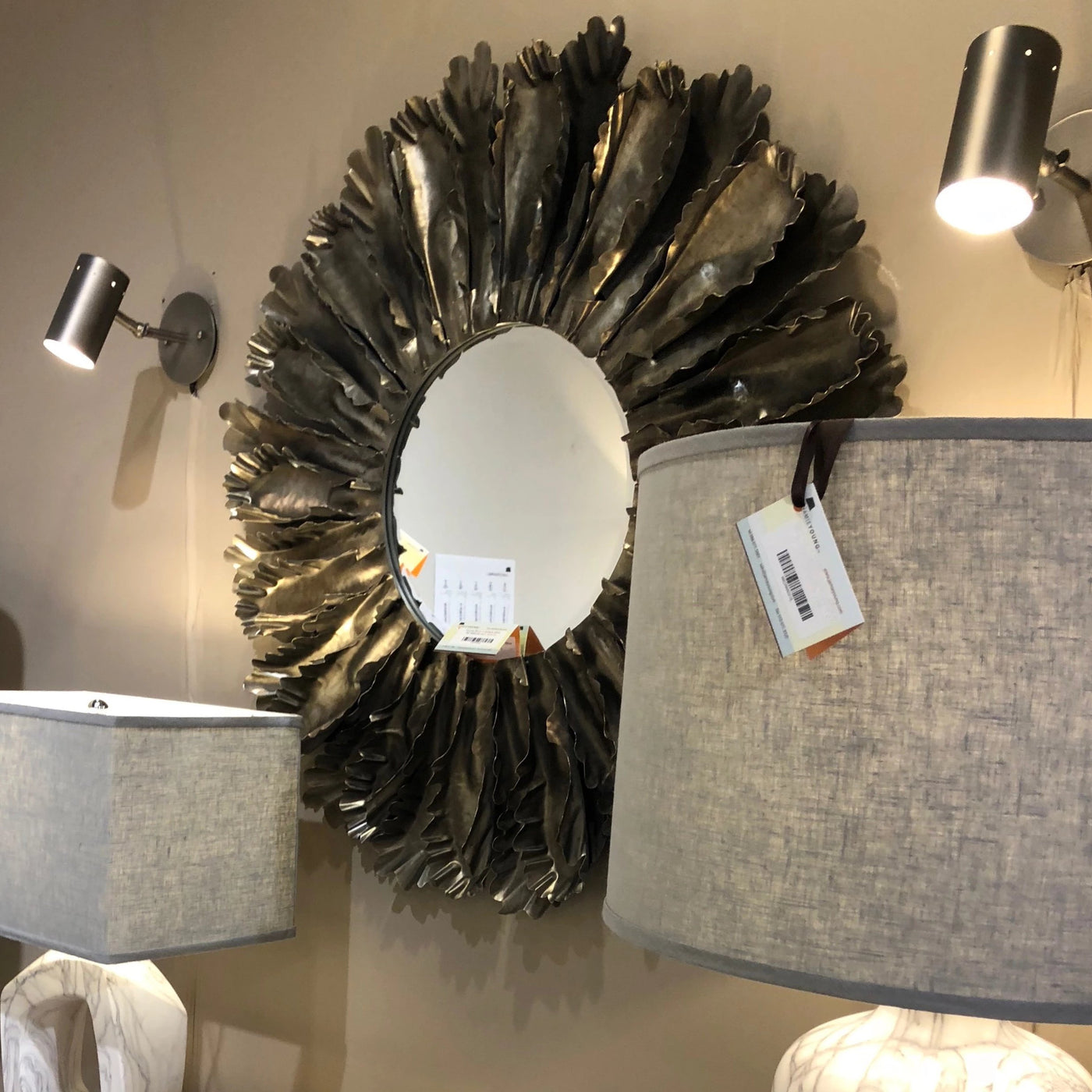 jamie young Milano sconce silver showroom