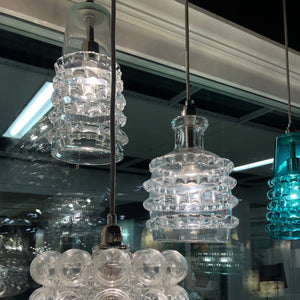 jamie young long ribbon pendant clear showroom
