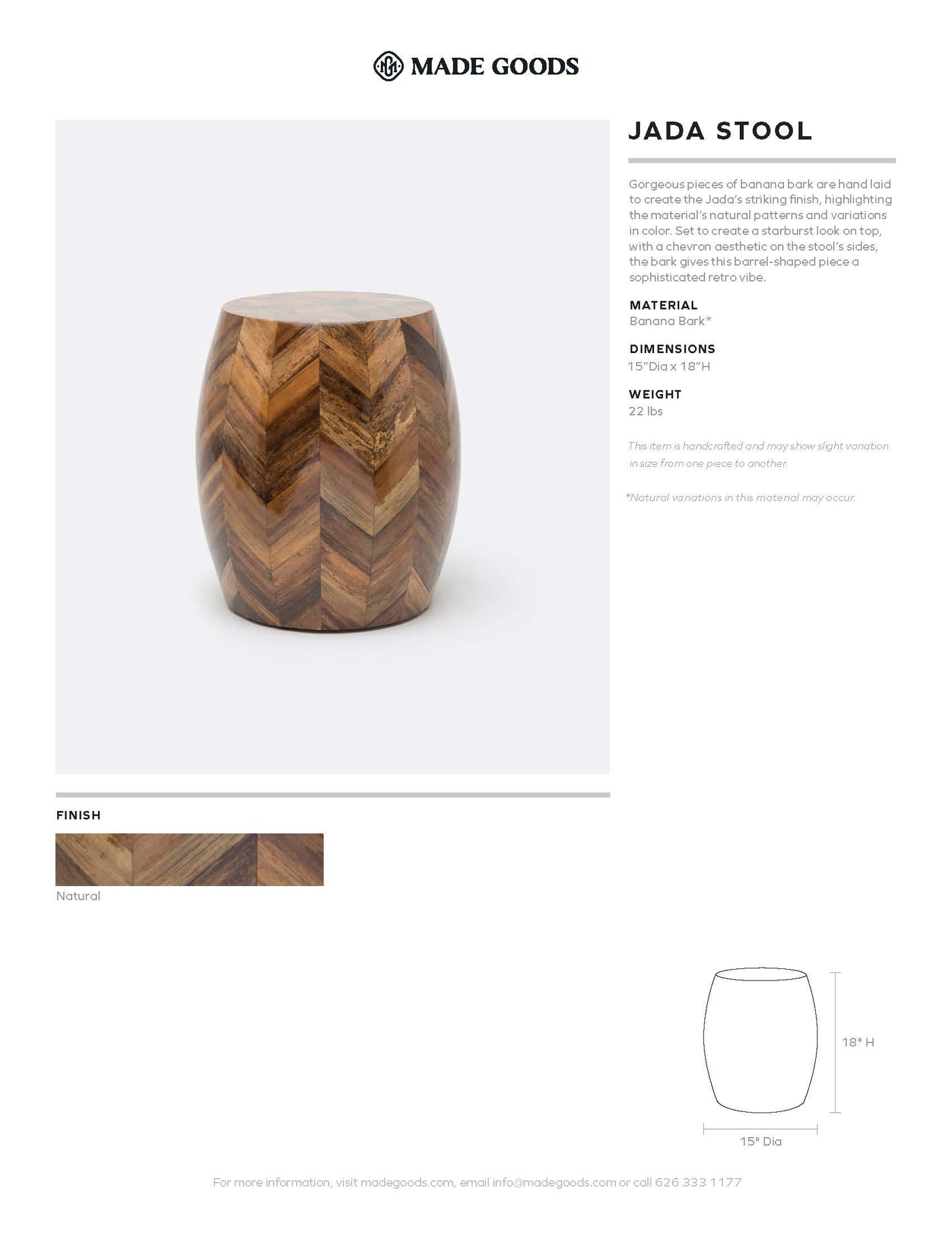 Made Goods Jada Stool tearsheet
