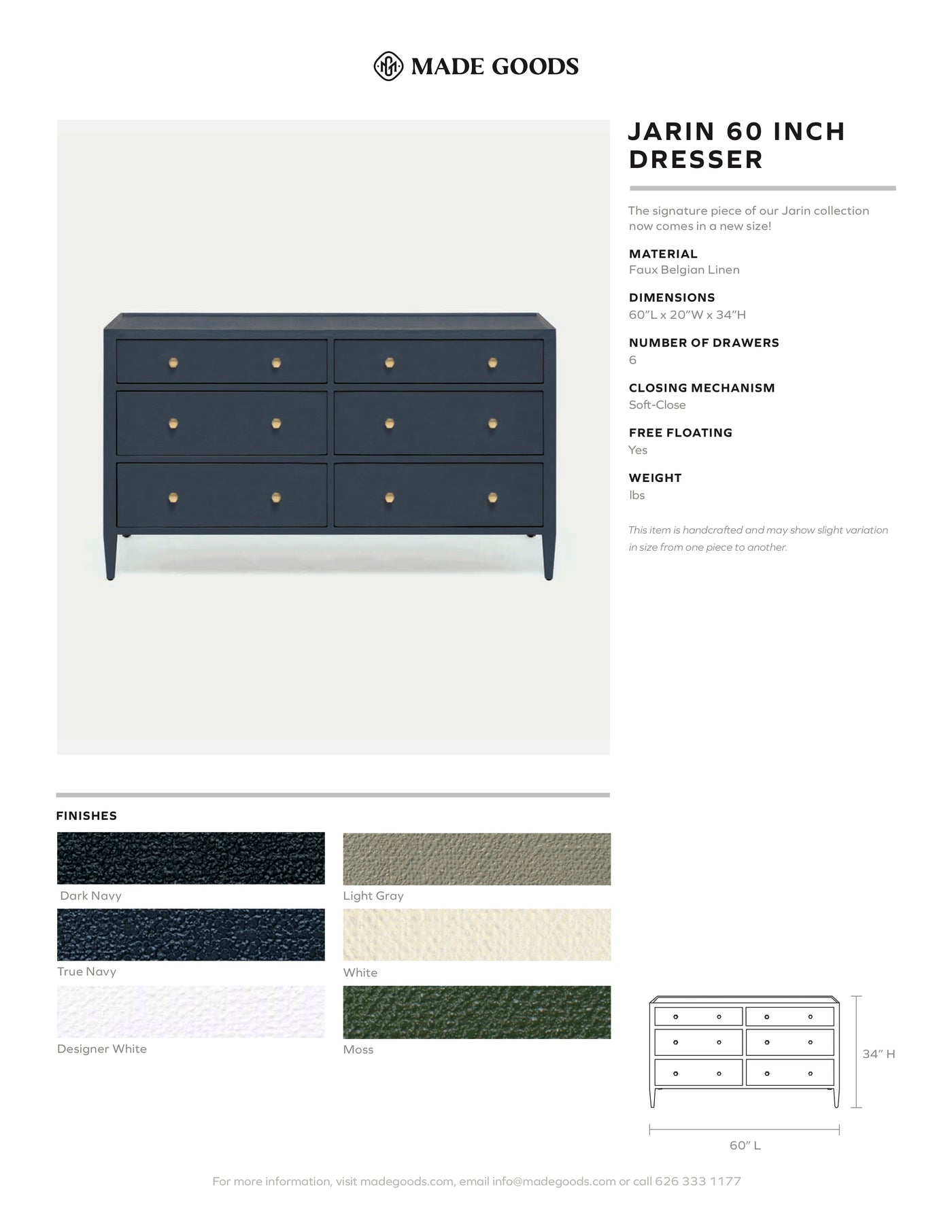 made goods jarin 60 dresser 6 drawers bedroom storage tear sheet