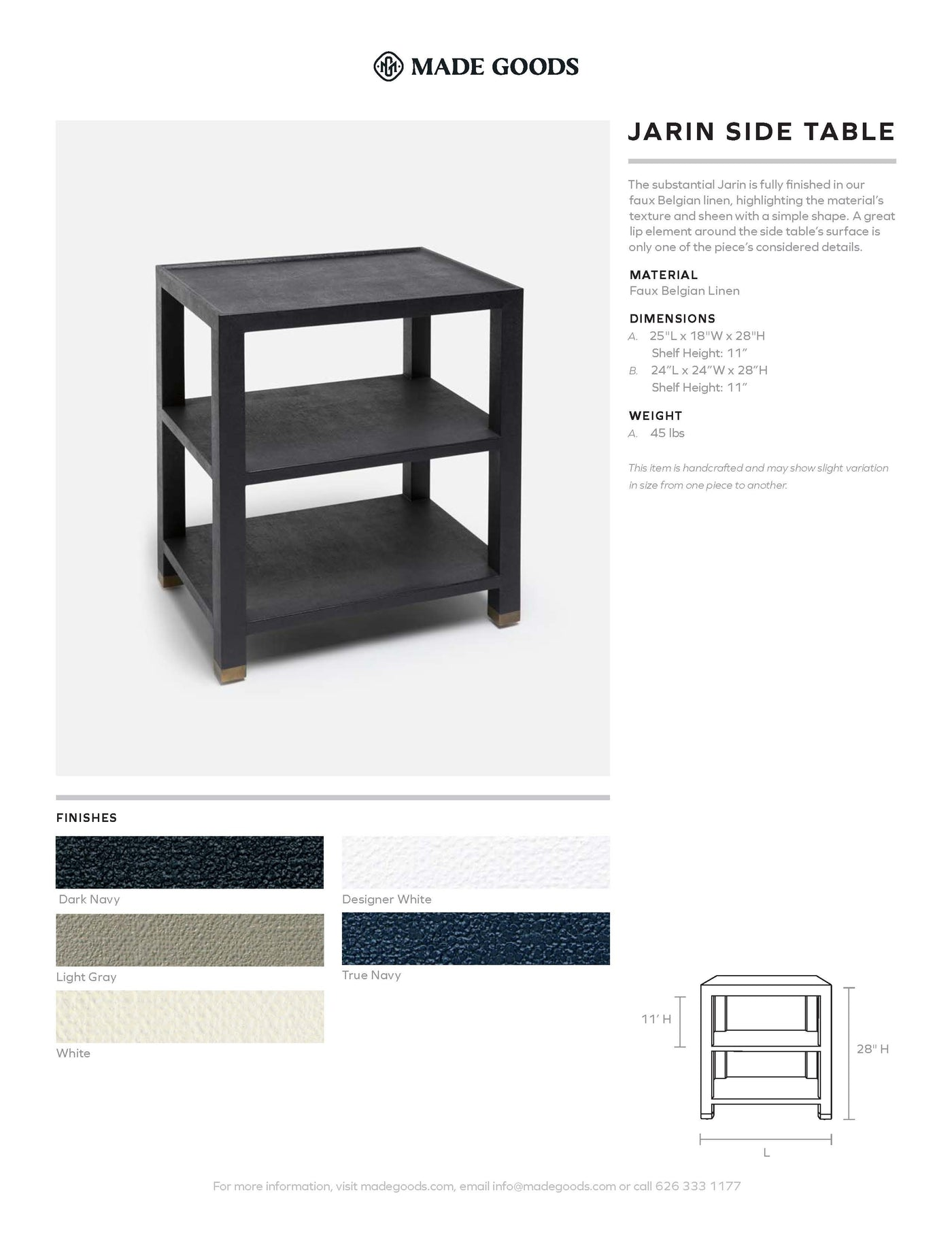 Made Goods Jarin Side Table Tearsheet