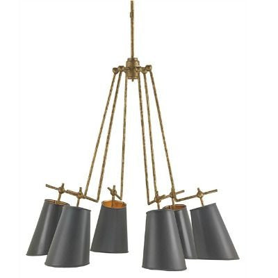 currey and  company jean louis chandelier metal black gold
