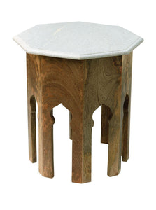 Jamie Young atlas side table white marble 1210
