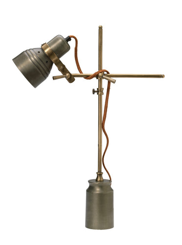 Jamie Young singer table lamp gun metal 1111