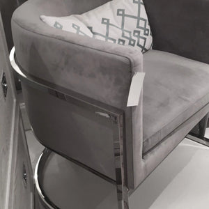 worlds away jenna side chair grey velvet silver room view side