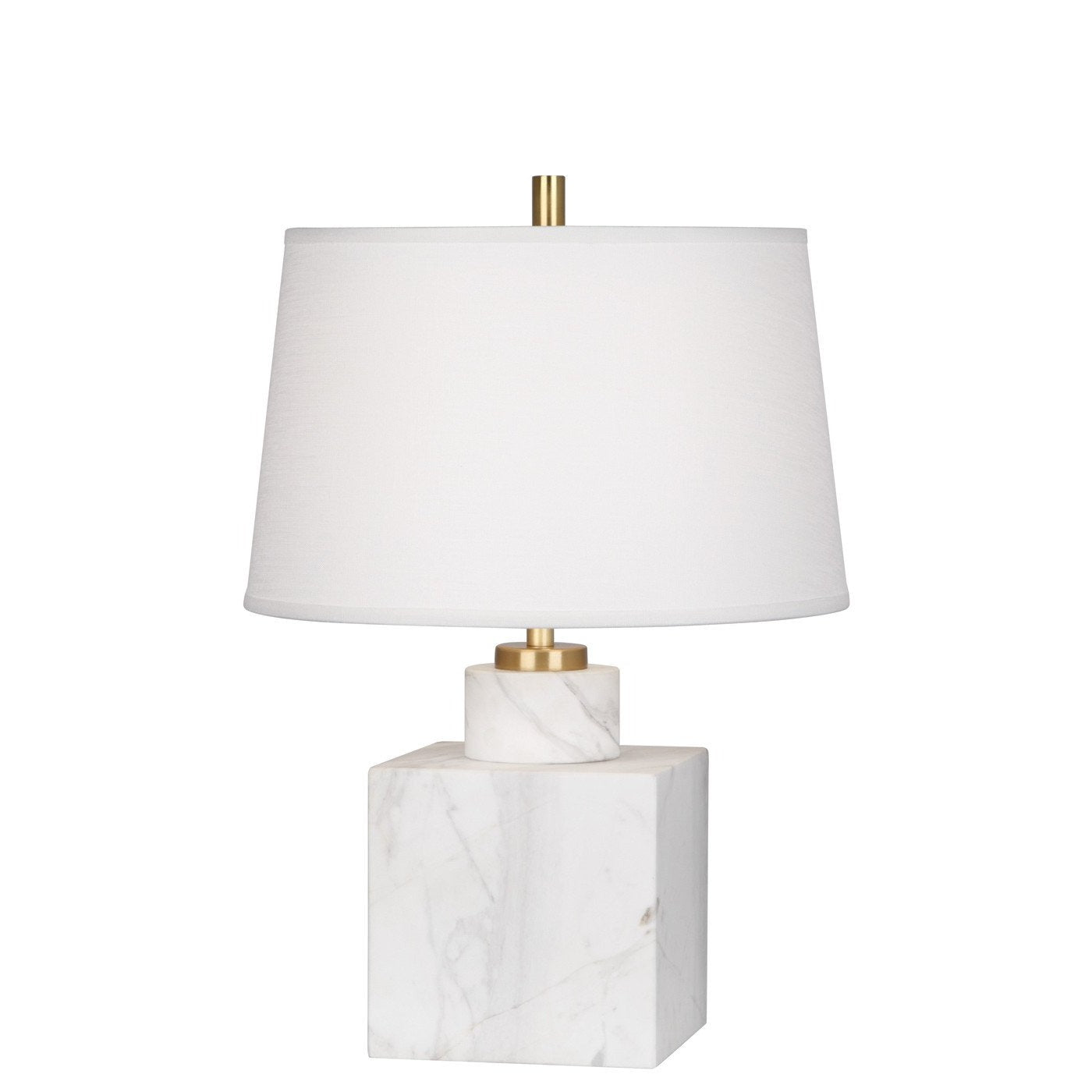 jonathan adler canaan short table lamp marble white
