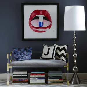 jonathan adler harlequin floor lamp nickel in room