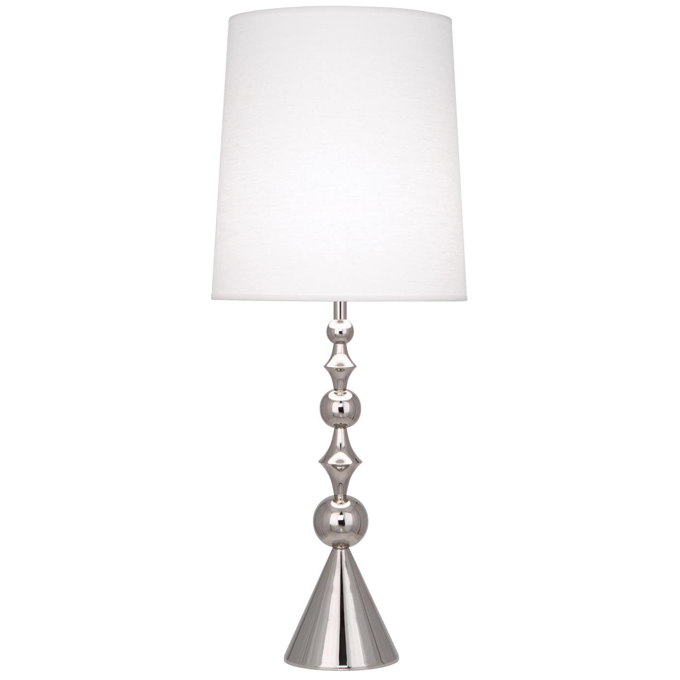 jonathan adler harlequin table lamp nickel