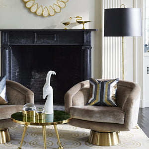 jonathan adler meurice floor lamp antique brass lighting in room