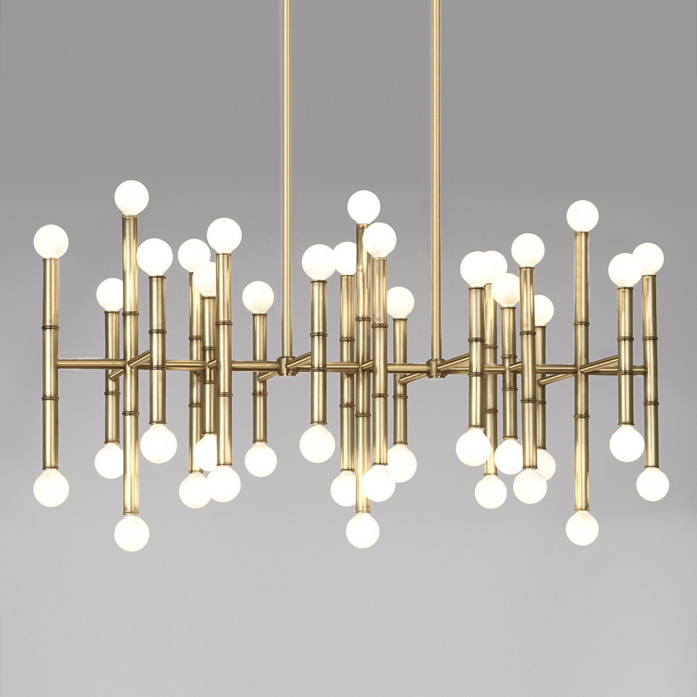 jonathan adler meurice rectangular chandelier brass lighting