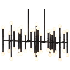 jonathan adler meurice rectangular chandelier bronze lighting