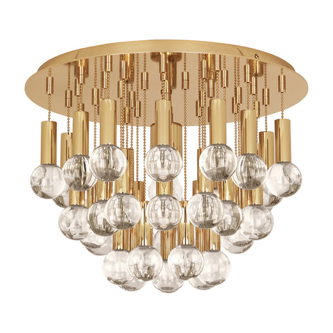 jonathan adler milano flush mount light polished brass lighting ceiling light
