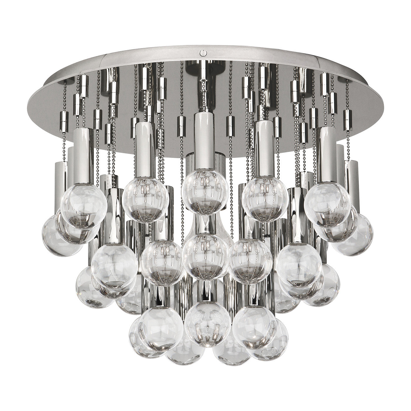 jonathan adler milano flush mount light polished nickel lighting ceiling light