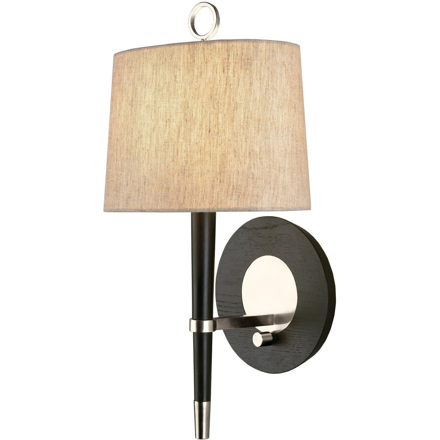 jonathan adler ventana wall sconce antique nickel ebony wall lighting