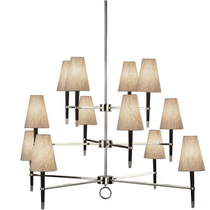 jonathan adler ventana three tier chandelier nickel ebony lighting