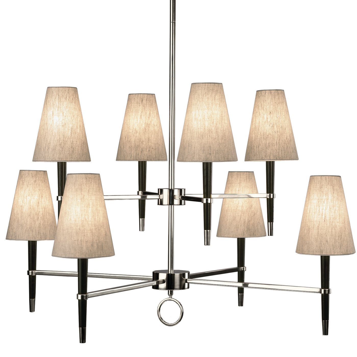 jonathan adler ventana two 2 chandelier nickel ebony lighting