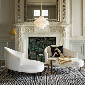 jonathan adler vienna small chandelier lighting brass in room