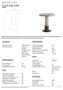 arteriors home kamile side table tearsheet