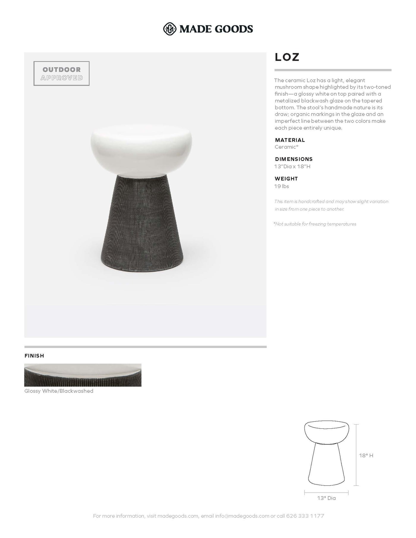 made goods loz stool tearsheet