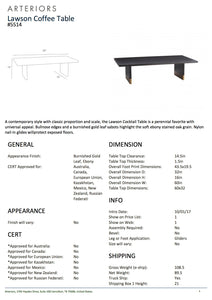 Arteriors Home Lawson Coffee Table Tearsheet